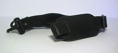 Colombian Black Leather Adjustable Shoulder Strap - Universal replacement nwot