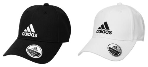 Adidas 6P Cotton Caps Hat White Black White Adjustable
