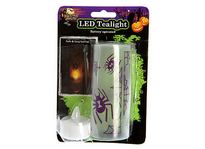 Halloween Candle Light Party Decorations Safe Long Lasting Tealight LED Trick