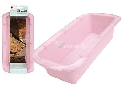 PINK Silicone Loaf Tin cake Bread Roll Bakeware Mould kitchen cooking baking Pan