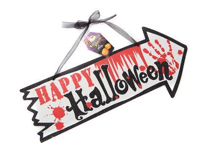 En Bois Joyeux Halloween Signe Maison Décoration Tenture Accessoire Trick - Decoration Maison Halloween