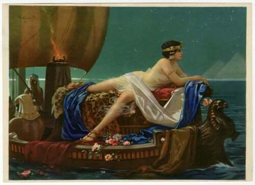 Vintage Hy Hintermeister 1930s Art Deco Cleopatra Pin-Up Print Egyptian Splendor