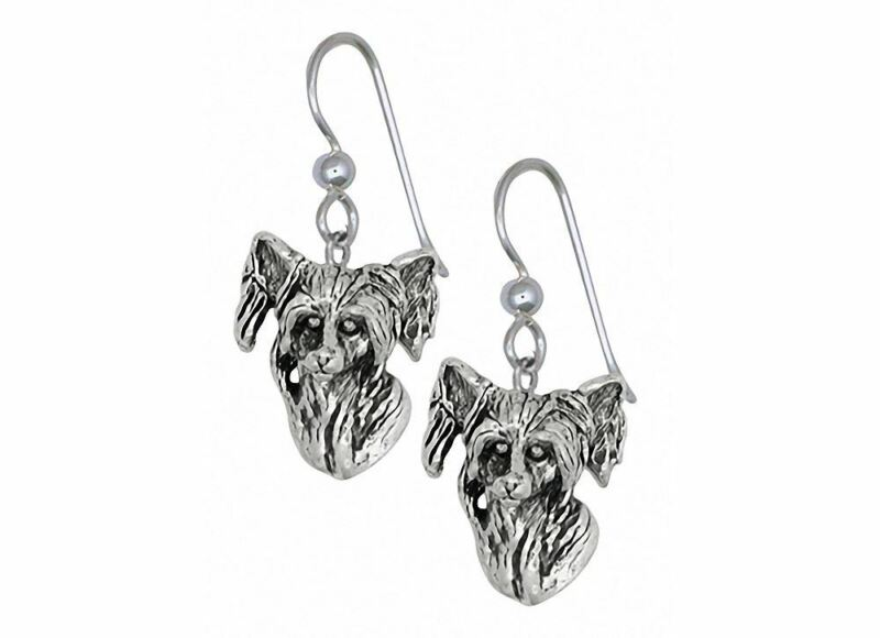 Chinese Crested Earrings Jewelry Sterling Silver Handmade Dog Earrings CC1-E