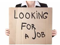 Looking for a Job in warehouse, retail or administrative.