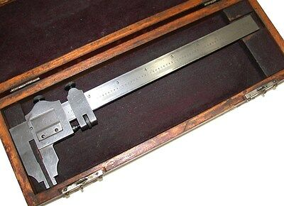 Starrett 6 Master .001 Inside Outside Measuring Vernier No.122 W Case