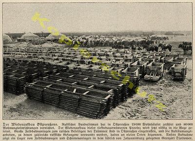 Ostpreußen Armee Feldbahn Wagen Schienen Schmalspur Dlottowen Johannisburg 1915