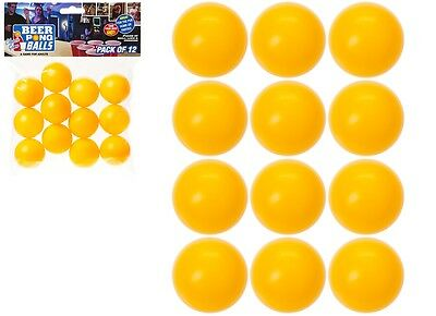 12 x 38mm Yellow / Orange Spare Beer Ping Pong Shot Balls Drinking Games Party