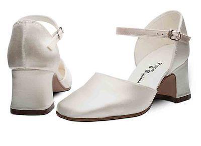 Ivory Satin Bridesmaid Bridal Flower Girl Shoes 12,13,1,2,3,4,5,6,7 ISABELLA H/H