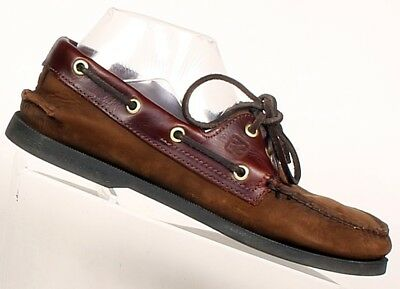 Men's Sperry Authentic Original 2-Eye Boat shoes Dark Brown buck Size 6M  for sale  Shipping to South Africa