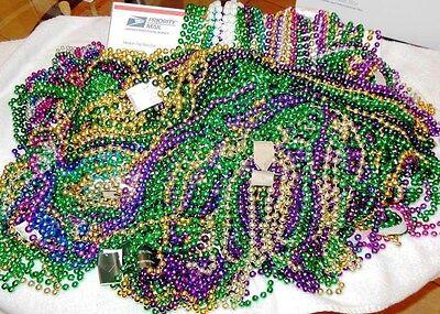 18 Dozen New Orleans Mardi Gras Beads Instant Party (00)
