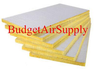 6 Sheets Fiberglass Ductboard 1 X 48 X 120 Duct Board R4