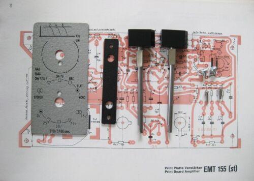 EMT 155 st EQ plate & controls for EMT 930 & 927