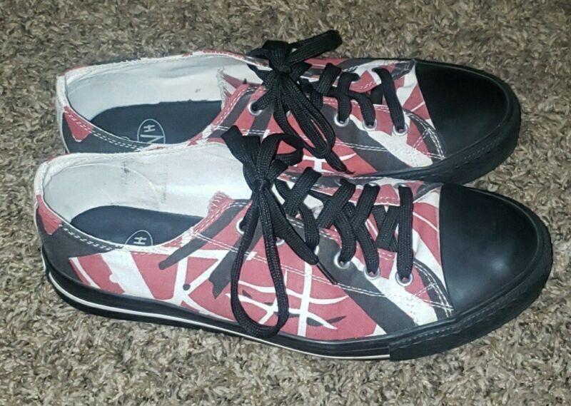 Official EVH Eddie Van Halen Shoes Sz 10 Red/Black/White