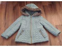 ☆ Blue 5-6 years girls Heart coat ☆ George