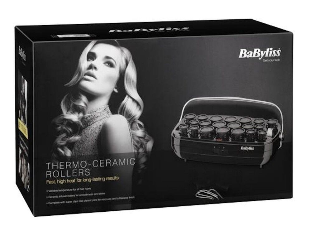 Babyliss Thermo Ceramic 20 Hair Rollers in Case Used Once  20311098e3
