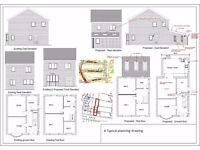 Design and Drawing services - Planning and Building Regulations applications 2D plans & 3D Models