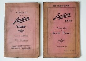 Handbook of the Austin Eight & Price List of Spare Parts