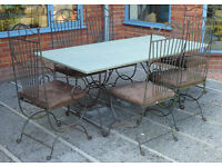 Patio or Conservatory Table & Chairs with Granite Composite Top