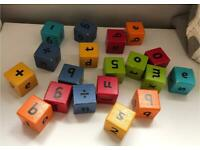 Children's Wooden Letter/Number Building Blocks