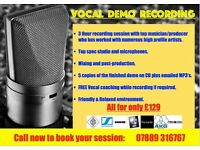 PROFESSIONAL DEMO RECORDING: SPECIAL OFFER