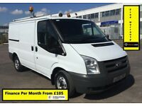 Ford Transit Van 2.2 300, 1 Owner From New, Full Service History 10 Stamps, 1 YR Mot, Warranty, 92K