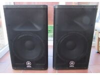Yamaha DXR12 Powered PA Speakers - pair
