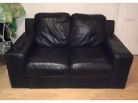 Black 2 Seater Sofa for Sale! Streatham/Tooting