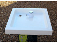 Shower Tray. Resin stone - 760 x 760 mm. Complete with Trap
