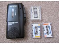 Olympus S701 Microcassette Recorder Dictator Machine with 3 tapes