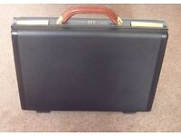 Samsonite Hard Shell Briefcase with Leather Handle and Combination Lock