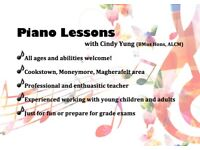 Piano Lessons in Cookstown, Moneymore, Magherafelt area with Cindy Yung BMus(Hons), ALCM