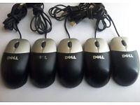 Job lot of 10 x Dell USB Optical mouse
