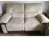TWO SEATER RECLINING SOFA & ARMCHAIR EXCELLENT CONDITION