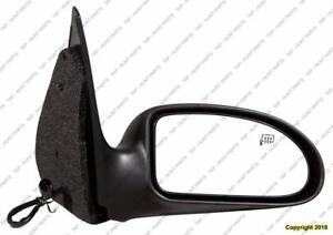 Door Mirror Power Passenger Side Heated Without Folding Textured Ford Focus 2005-2007