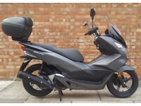Honda PCX 125, AS NEW, Only 110 Miles! SOLD WITH TOPBOX AND SCREEN