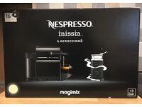 Nespresso Inissia coffee machine with Aeroccina 3. Cream. Brand New in Box.