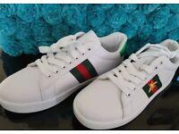 Gucci ace bee trainers shoes men women size 6 eu 39