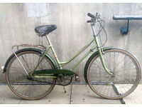 """Vintage 70's Puch Calypso 3 Speed Town Bicycle 17.5"""" Lime Green"""