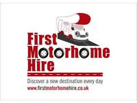 First Motorhome Hire motherwell Glasgow Scotland Jan Feb March £600pw £800pw summer