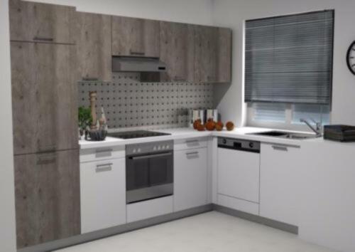 Komplette Küche, L-Form (Küchenzeile/ Einbauküche), neu BF19 504