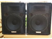 "YAMAHA Speakers Pair S15e 500w (15""+ HF Horn) Passive PA Speakers"