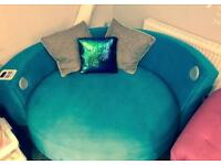 Teal cuddle sofa DFS