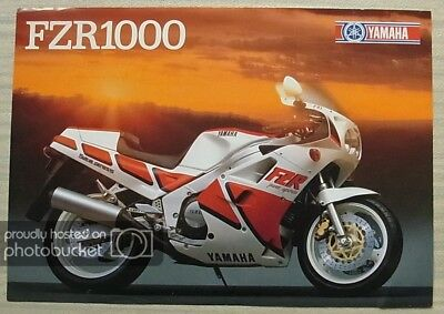YAMAHA FZR1000 MOTORCYCLE Sales Specification Leaflet 1987 #LIT-3MC-0107918-87E