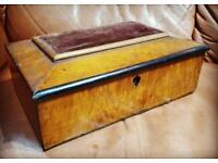 Antique/Vintage wooden sewing box for restoration