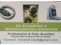 K9 microchipping and scanning services