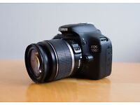 CANON EOS 550D DSLR CAMERA WITH CANON EF-S 18-55mm f3.5-5.6 LENS