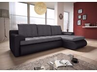 Fantastic BRAND NEW corner sofa bed with storage. 3 colours. can deliver