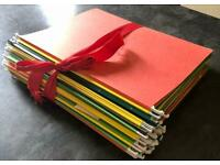 43 coloured folders for filling your filing cabinet