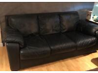 Marinelli Italian 2 x 3 Seater Black Sofas