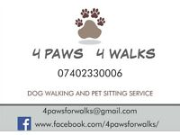 Dog Walker, Pet sitter - 4 PAWS 4 WALKS